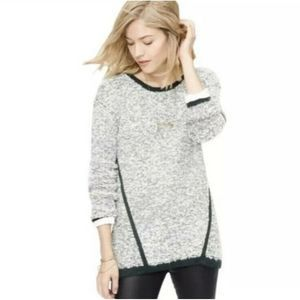 Lou & Grey Fuzzstripe Pullover Sweater Boucle